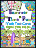 """Math Task Cards Elapsed Time Summer """"Time"""""""