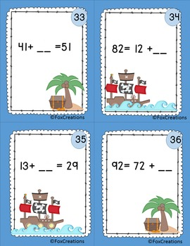 Math Task Cards ~ Equations and Unknown Numbers ~ Math Center