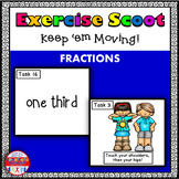 Fractions Math Task Cards Exercise Scoot