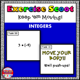 Integers Math Task Cards Exercise Scoot