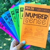 Math Task Cards - FREE Recording Sheet Covers