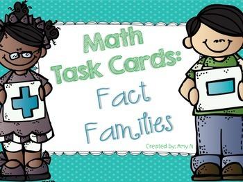 Fact Family Math Task Cards