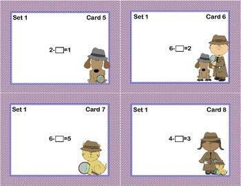 Math Task Cards- Find the Missing Number Grades 1-2