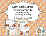 Math Task Cards: Fractions Bundle {Enhanced with Augmented Reality}