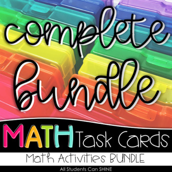Math Task Cards GROWING BUNDLE