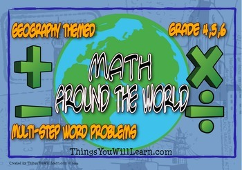Math Around the World Task Cards