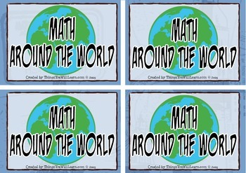 Math Around the World Task Cards