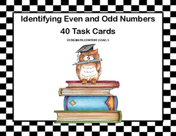 Math Task Cards- Grade 2- Odd and Even Numbers-School Theme