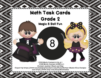 Math Task Cards-  Grade 2 Review of Basic Operations and W