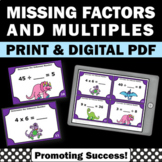 3rd Grade Multiplication and Division Task Cards Factors & Multiples Activities