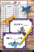 Missing Factors and Multiples, 3rd Grade Multiplication and Division Task Cards