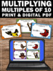 Multiples of 10 Multiplication Task Cards 3rd Grade Math Games Multiplying by 10