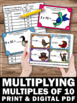 Learnin Multiples of 10 Task Cards, Multiplication Games 3rd Grade Math Centers