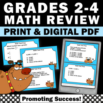 3rd Grade Math Review Task Cards for Centers or Stations Games and Activities