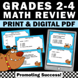 3rd Grade Math Review SCOOT, Dog Theme