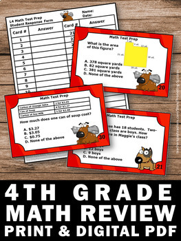 4th Grade Math Review Games, Special Education Math, End of the Year