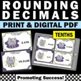 Rounding Decimals Task Cards (Nearest Tenth) 5th Grade Math Review