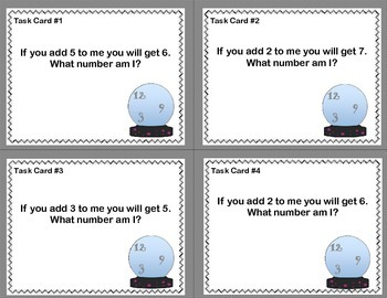 Math Task Cards- Grades 1-2 CCSS -The Crystal Ball Says…..