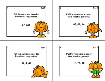Ordering Numbers 0-99-Math Task Cards-Grades 1-2
