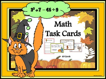 Math Task Cards (Grades 4 - 6)