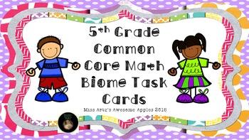 Math Task Cards Grades 5-8 Bundle
