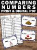 Comparing Numbers Task Cards, 4th Grade Math Review Game Greater Than Less Than