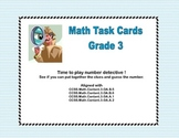 Math Task Cards- Number Detective Grade 3 Covers 4 CCSS