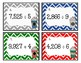 Math Task Cards: Long Division (Peppermint Mocha Theme)