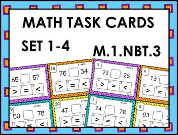 Math Task Cards M.1.NBT.3