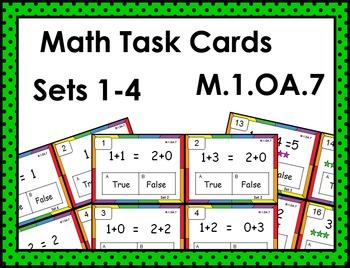 Math Task Cards M.1.OA.7