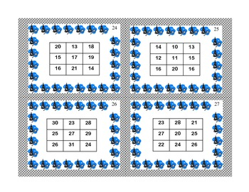 Math Task Cards- Magic Squares- Grades 3-4