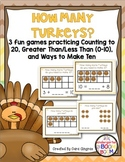 Thanksgiving Math - How Many More Turkeys? K/ 1