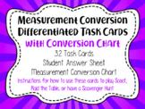 Math Task Cards Measurement Conversion
