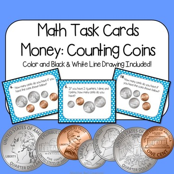 Math Task Cards: Money: Counting Coins