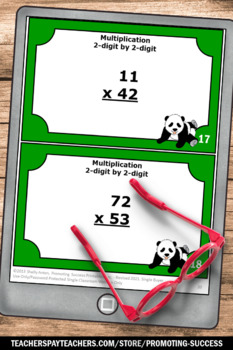Double Digit Multiplication Games, 2 Digit by 2 Digit Multiplication Task Cards