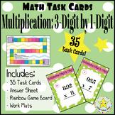 Math Task Cards:  Multiplication: 3-Digit by 1-Digit [35 Task Cards]
