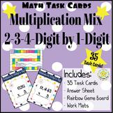 Multiplication Practice - Math Task Cards: Multi-Digit by 1-Digit