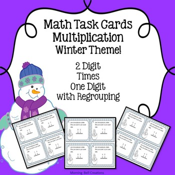 Math Task Cards: Multiplication - Winter Theme!