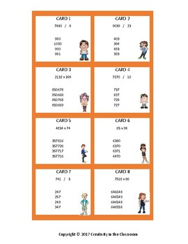Math Task Cards - Multiplication and Division - Up to 4 Digits