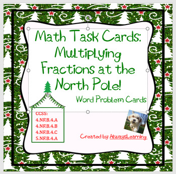 Math Task Cards: Multiplying Fractions at the North Pole!