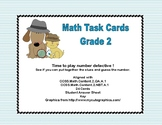 Math Task Cards- Number Detective Grade 2