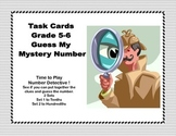 Math Task Cards- Number Detective Grades 5-6 Decimals to the Hundredths