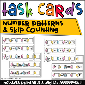 Math Task Cards: Number Patterns and Skip Counting (Common Core Aligned)