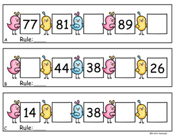 Math Task Cards: Number Patterns and Skip Counting