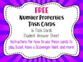 Math Task Cards Number Properties: Commutative, Associative, Distributive, Zero