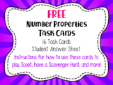 Math Task Cards Number Properties: Commutative, Associativ
