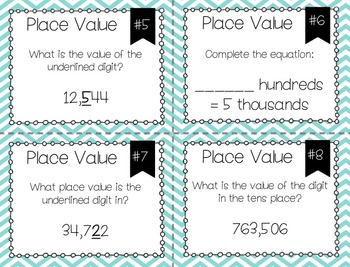Math Task Cards: Numbers and Operations