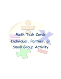 Math Task Cards- Numbers and Operations