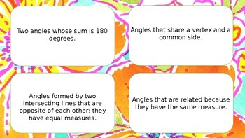 Math Task Cards Parallel Lines Cut by a Transversal