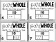Math Task Cards:  Part-Part-Whole to 10 with Pictures